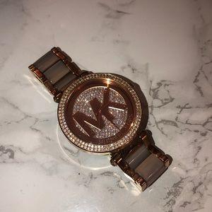 Michael Kors Rose Gold Rhinestone Watch